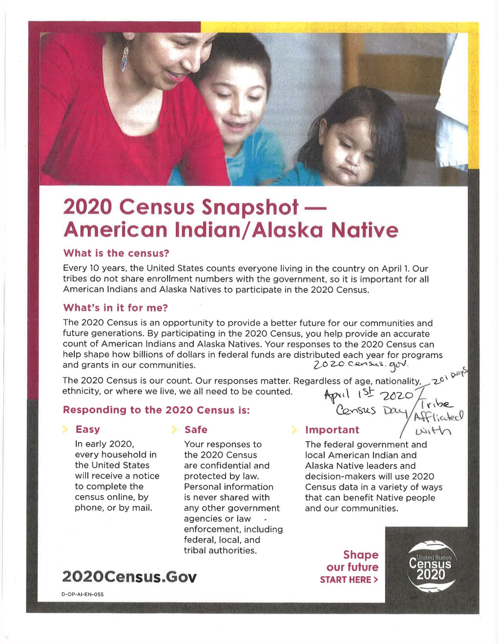 20191002 Census 2020 Flyer